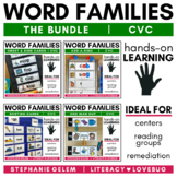 Word Families Short Vowels CVC Activities BUNDLE