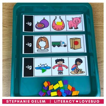 Word Families Short Vowels CVC Clip Strips