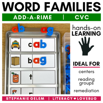 Word Families Short Vowels CVC Word Build
