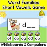 Short Vowels Game - A Fun CVC Word Families Activity