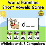 Word Families Short Vowels Game for Whiteboards and Computers