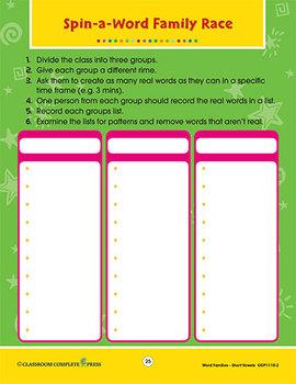 Word Families - Short Vowels: Make-a-Word Gr. K-1