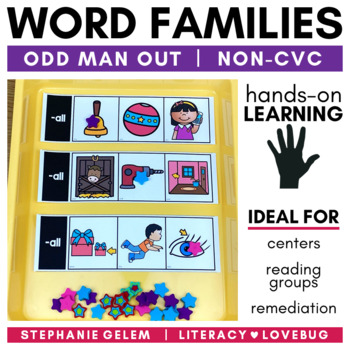 Word Families Short Vowels Clip Strips