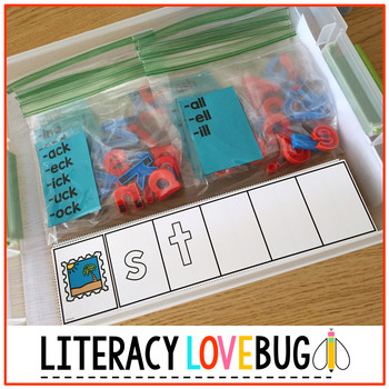 Word Families Short Vowels Word Build