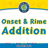 Word Families Short Vowels: Onset & Rime Addition - MAC Gr. PK-2