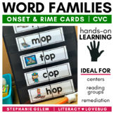 Word Families Short Vowels CVC Onset and Rime Cards