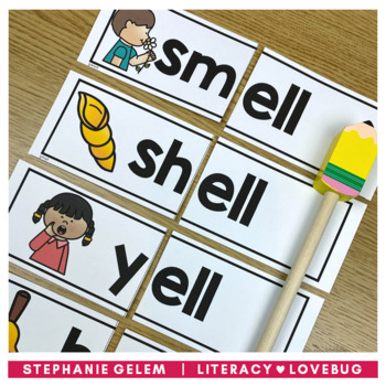 Word Families Short Vowels Onset and Rime Cards