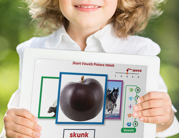 Word Families Short Vowels: Short Vowels Picture Match - NOTEBOOK Gr. PK-2