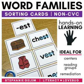 Word Families Short Vowels Sorts
