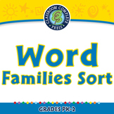 Word Families Short Vowels: Word Families Sort - NOTEBOOK Gr. PK-2