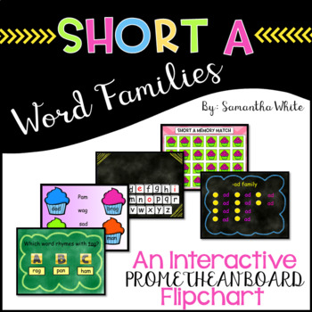 Word Families - Short a (An Interactive Promethean Board Flipchart)