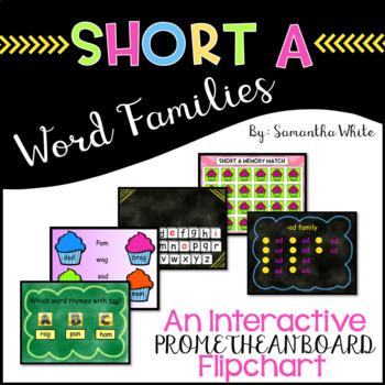 Word Families - Short a (An Interactive Promethean Board Flipchart)