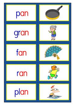 Word Families: Short a vowel posters and games