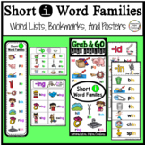Word Families Short i: Bookmarks, Word Lists, Posters