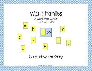 Word Families Short o