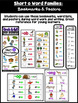 Word Families Short o: Bookmarks, Word Lists, Posters