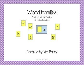 Word Families Short u