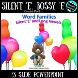 Word Families PowerPoint Lesson {Silent/Bossy 'E' & Long Vowels}
