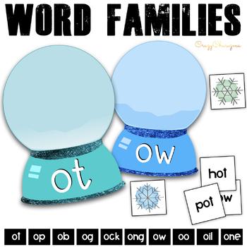 Winter Phonics Activities: short / long O words {Snow Globes}