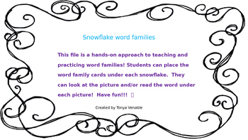 Word Families Snowflakes