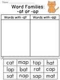 Word Families Sort Worksheets (Entire Year Set)