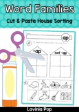 Word Family Houses: Cut and Paste Sorting Activity