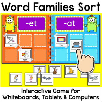 Word Families Sorting Game for Smartboards and Computers