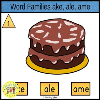 Word Families Clip Cards