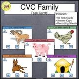 CVC Word Family Task Cards