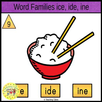Word Family I Task Cards