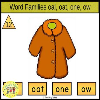 Word Family O Task Cards