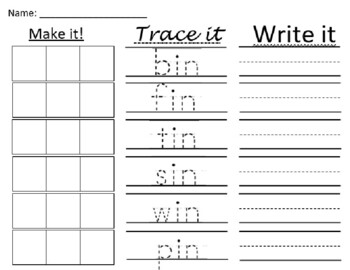 Word Families: Stamp it and Make it