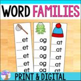 Word Families Strips Print & Digital