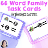 Word Families 66 Task Cards for Manipulating Sounds in Words