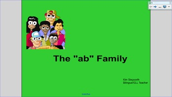 """Word Families: The """"ab"""" Family"""