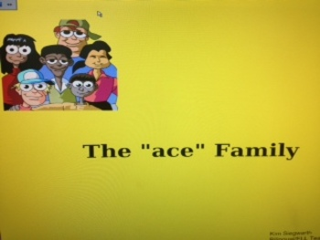 "Word Families: The ""ace"" family"