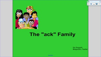 """Word Families: The """"ack"""" Family"""