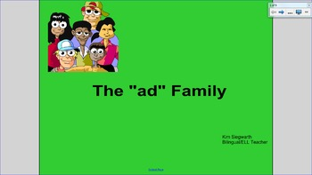 "Word Families: The ""ad"" Family"