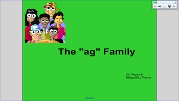 """Word Families: The """"ag"""" Family"""