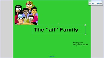 """Word Families:  The """"ail"""" Family"""