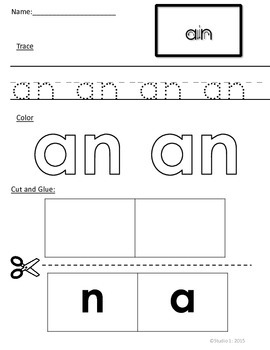 Word Families: The -an Family