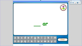 "Word Families:  The ""ar"" Family"