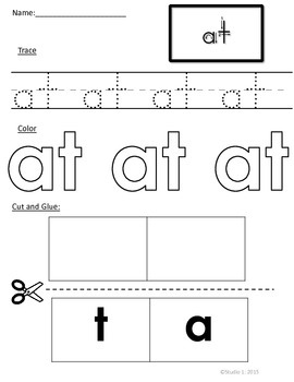 Word Families: The -at Family