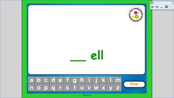 "Word Families:  The ""ell"" Family"