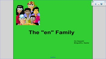 "Word Families:  The ""en"" Family"