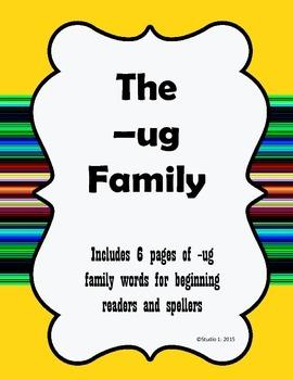 Word Families: The -ug Family