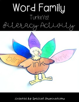 Word Family Turkeys (nk, ng, all)