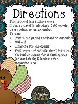 Word Families: Turkey & Thanksgiving Theme