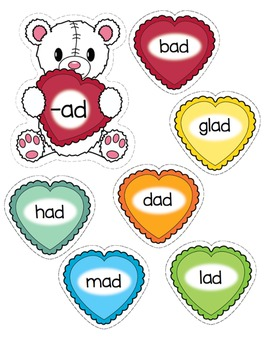 Word Families - Valentines
