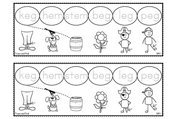 Word Families Activities - em Word Family